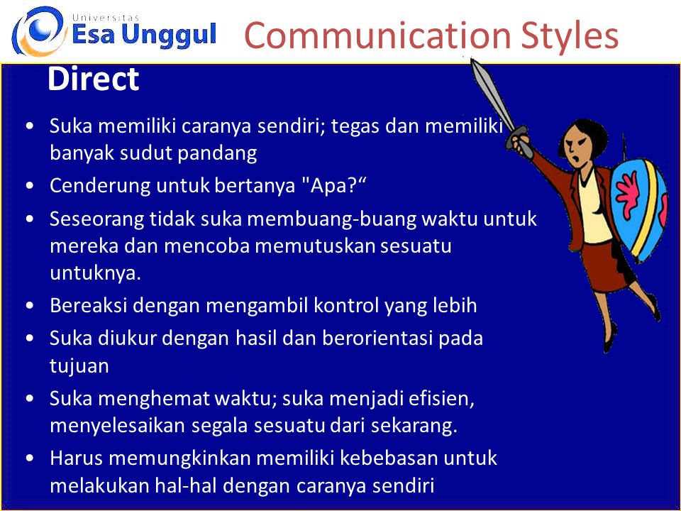 Communication Styles Direct