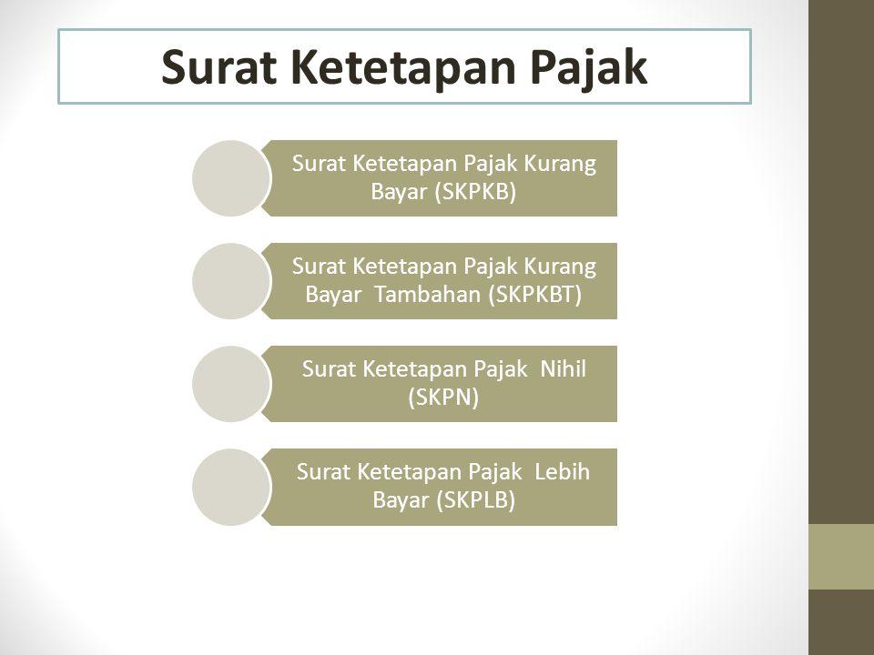 Surat Ketetapan Pajak Surat Ketetapan Pajak Kurang Bayar (SKPKB)
