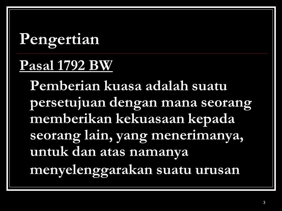 Pengertian Pasal 1792 BW.
