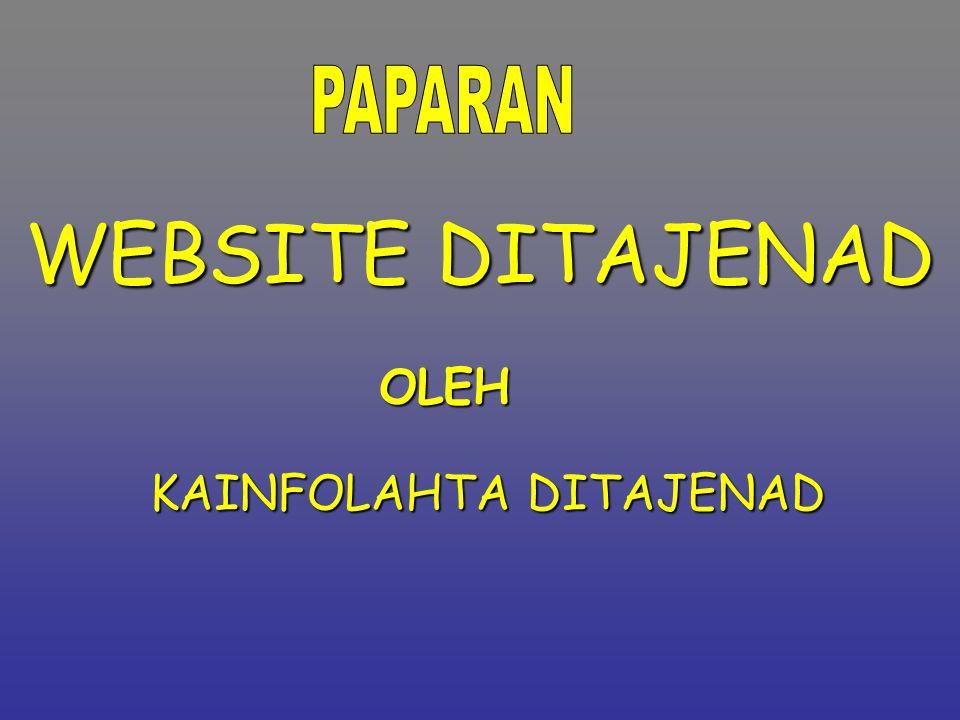 PAPARAN WEBSITE DITAJENAD OLEH KAINFOLAHTA DITAJENAD