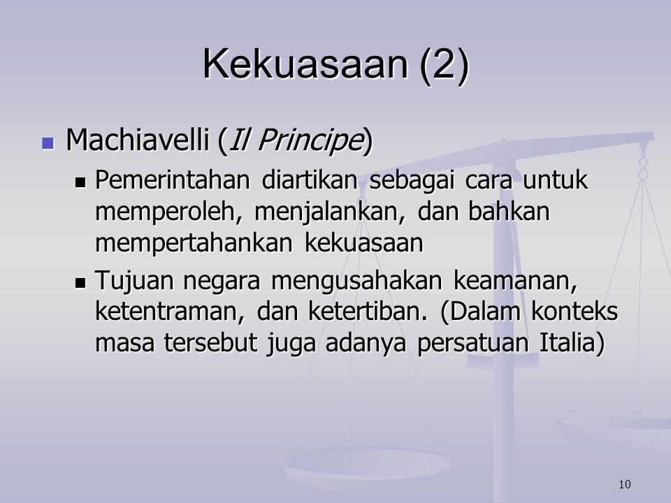Kekuasaan (2) Machiavelli (Il Principe)
