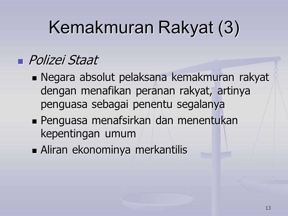 Kemakmuran Rakyat (3) Polizei Staat