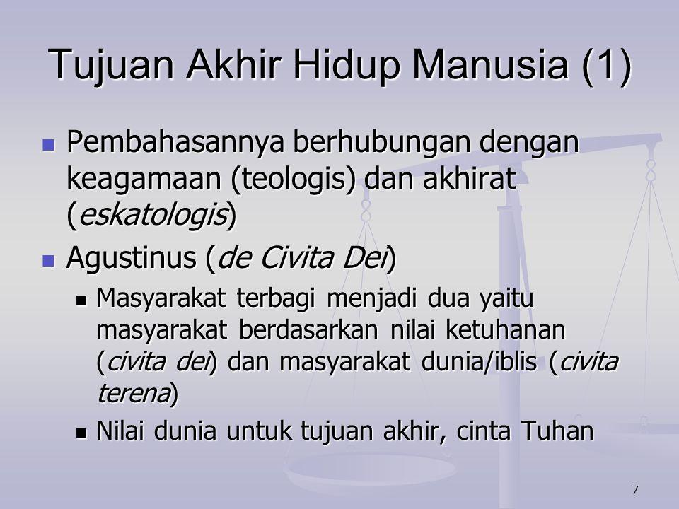 Tujuan Akhir Hidup Manusia (1)