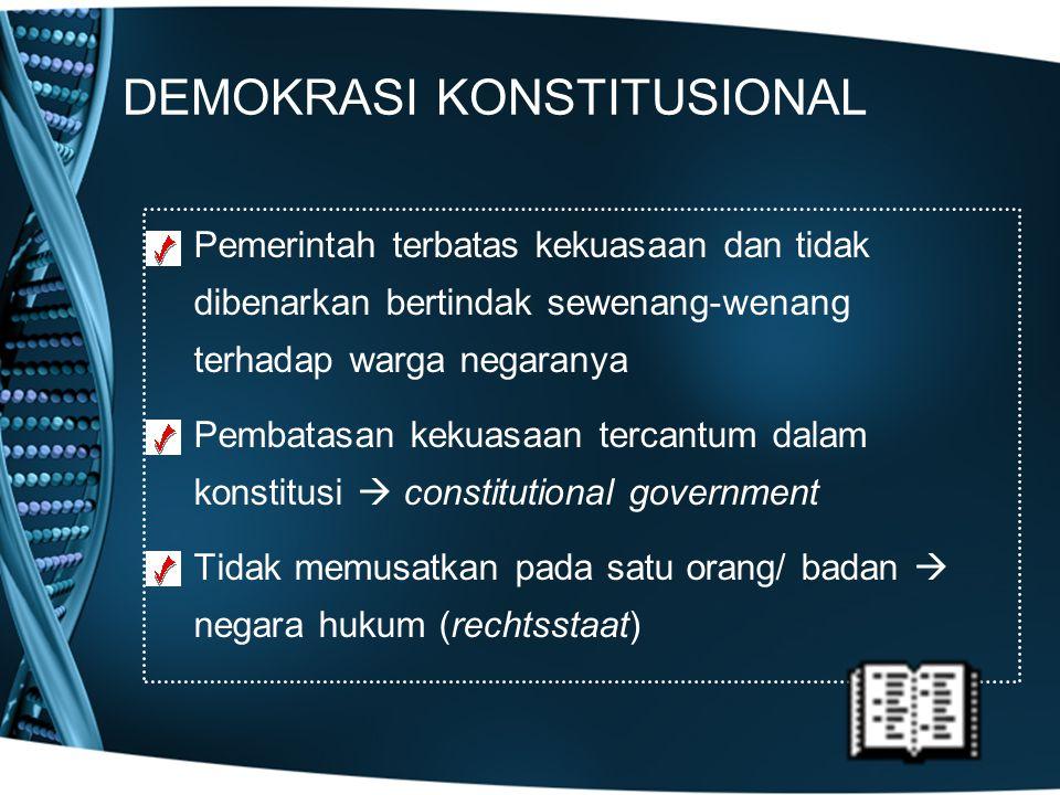 DEMOKRASI KONSTITUSIONAL