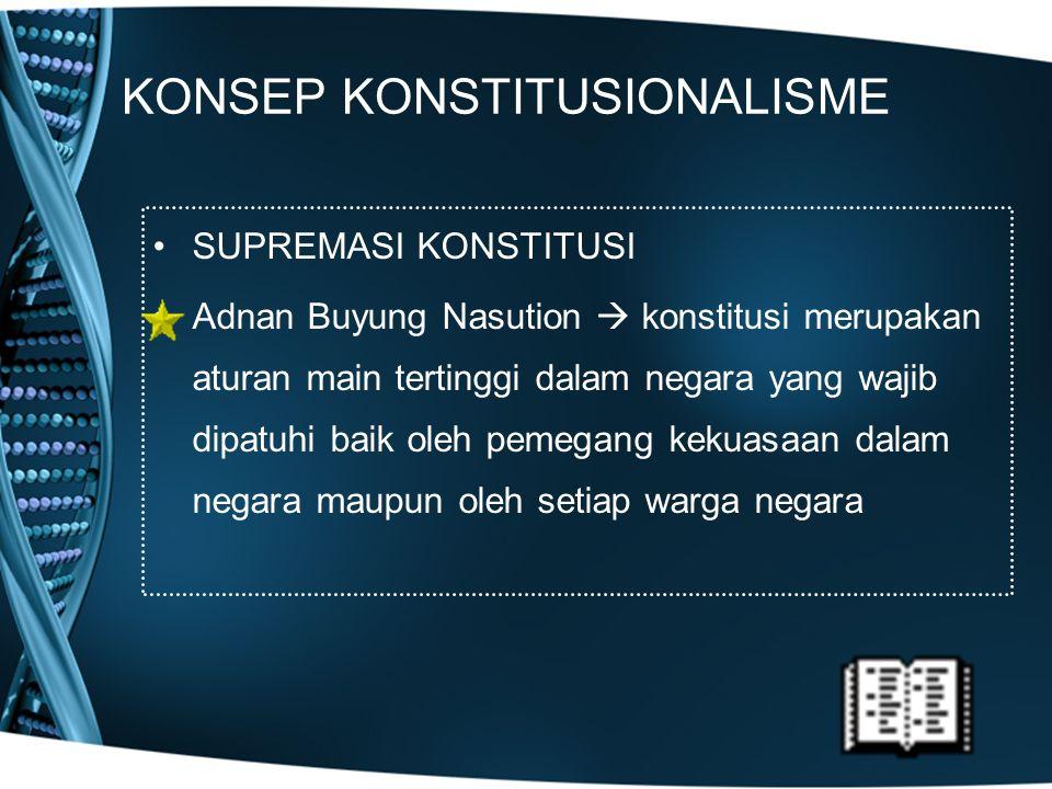KONSEP KONSTITUSIONALISME