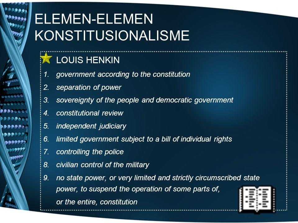 ELEMEN-ELEMEN KONSTITUSIONALISME