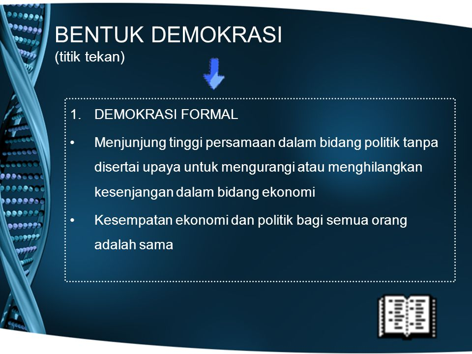 BENTUK DEMOKRASI (titik tekan)