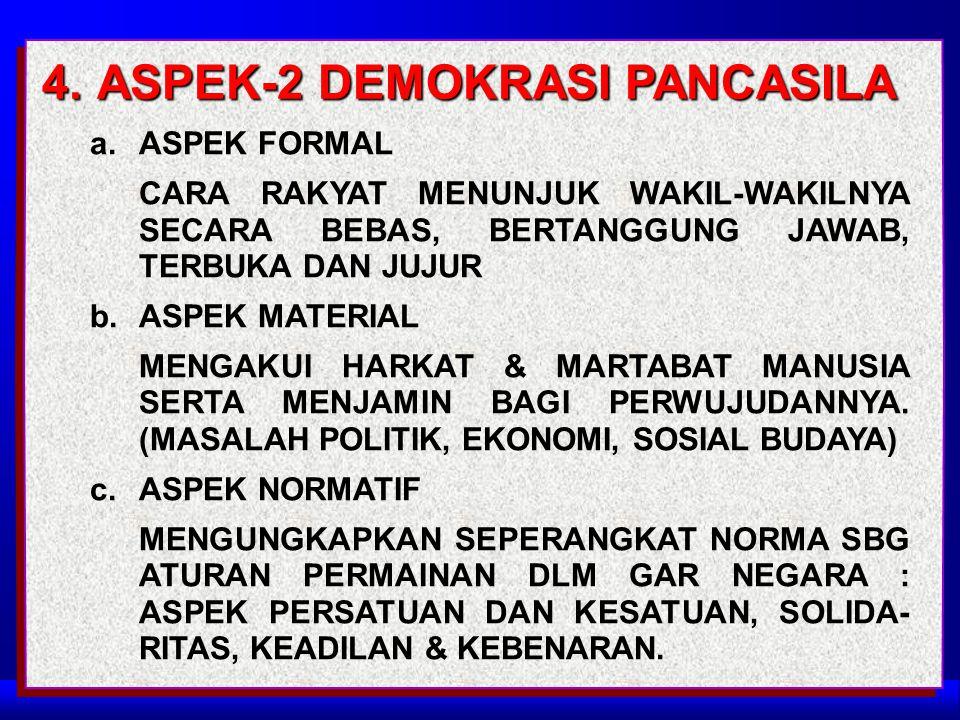 4. ASPEK-2 DEMOKRASI PANCASILA