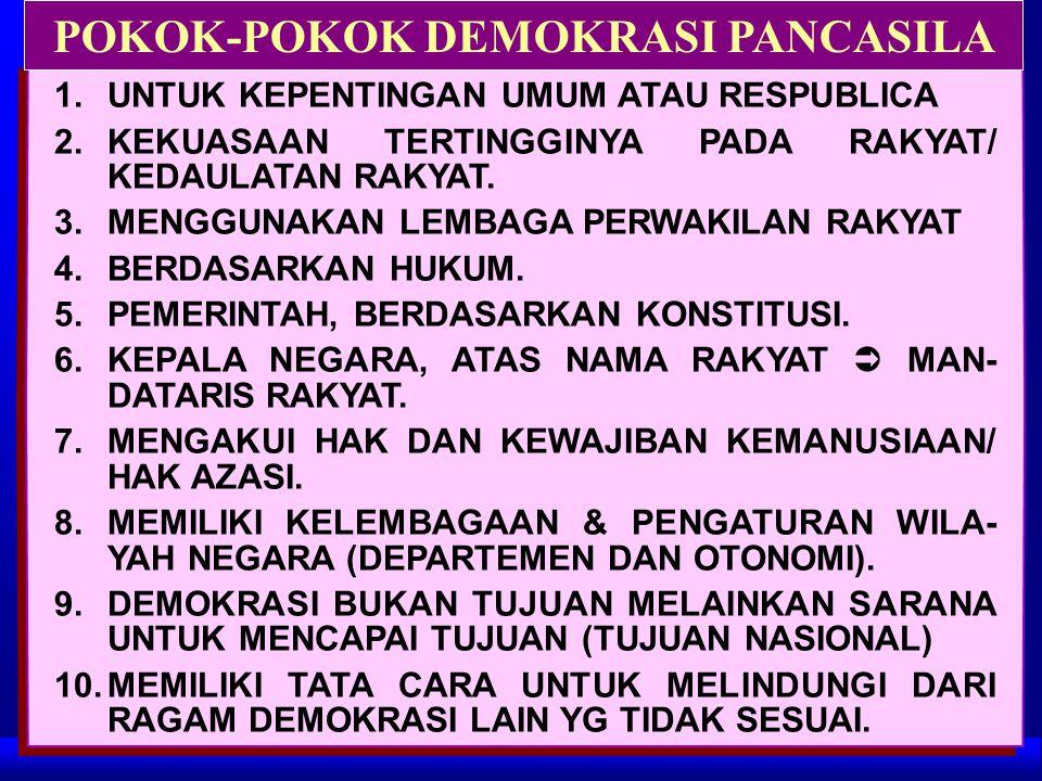 POKOK-POKOK DEMOKRASI PANCASILA