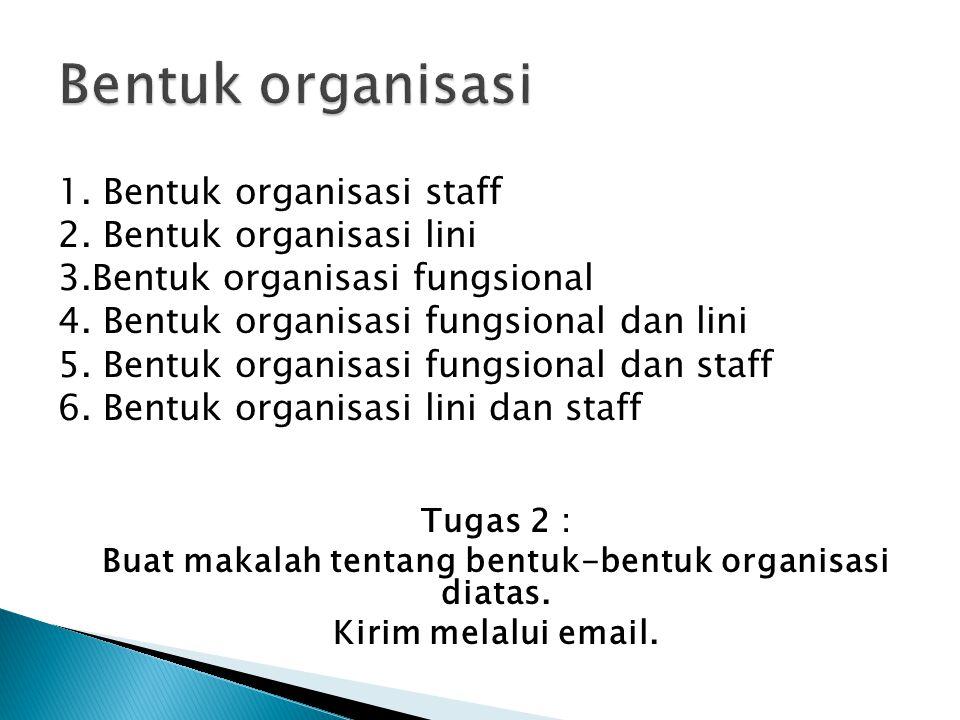 Buat makalah tentang bentuk-bentuk organisasi diatas.