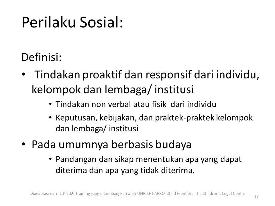 Perilaku Sosial: Definisi: