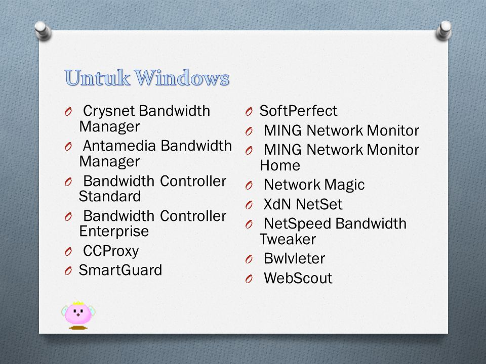 Untuk Windows Crysnet Bandwidth Manager SoftPerfect