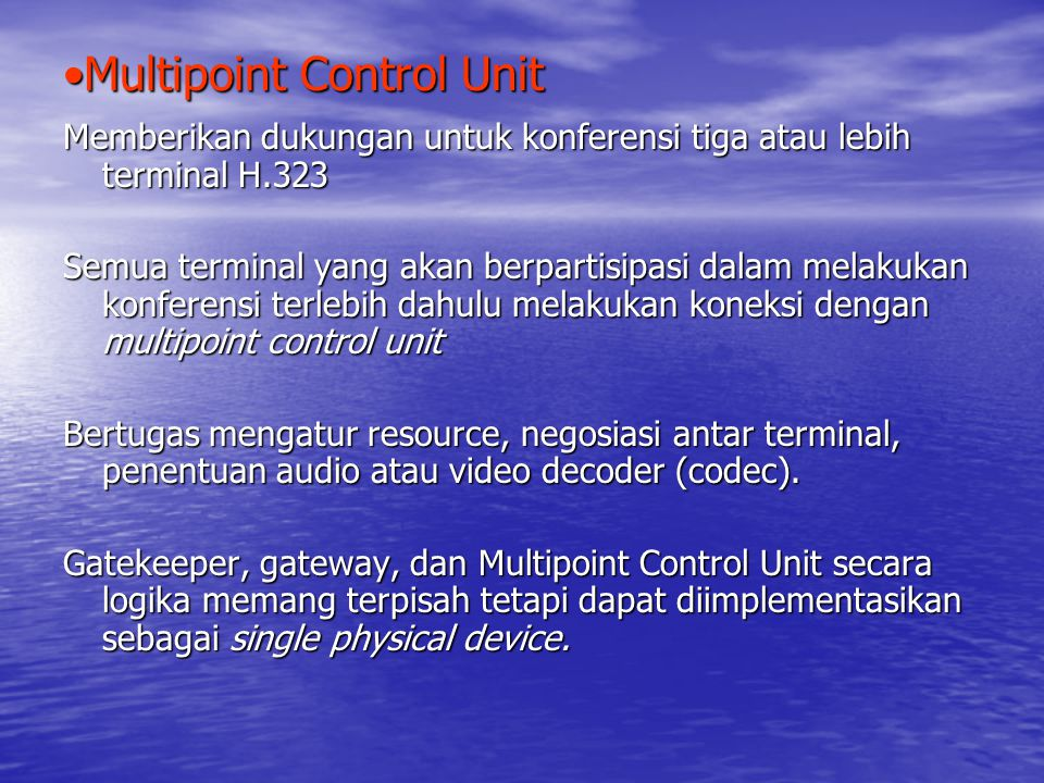 Multipoint Control Unit