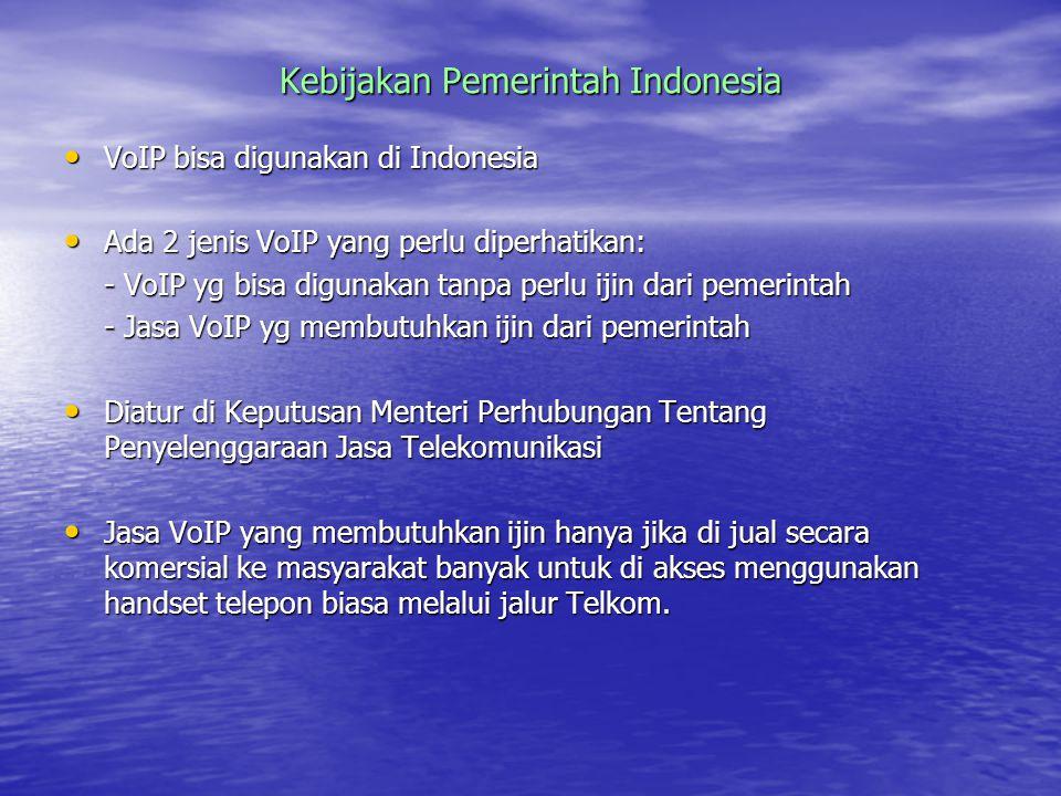 Kebijakan Pemerintah Indonesia