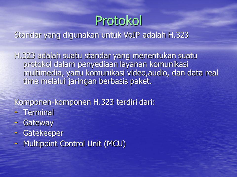 Protokol Standar yang digunakan untuk VoIP adalah H.323