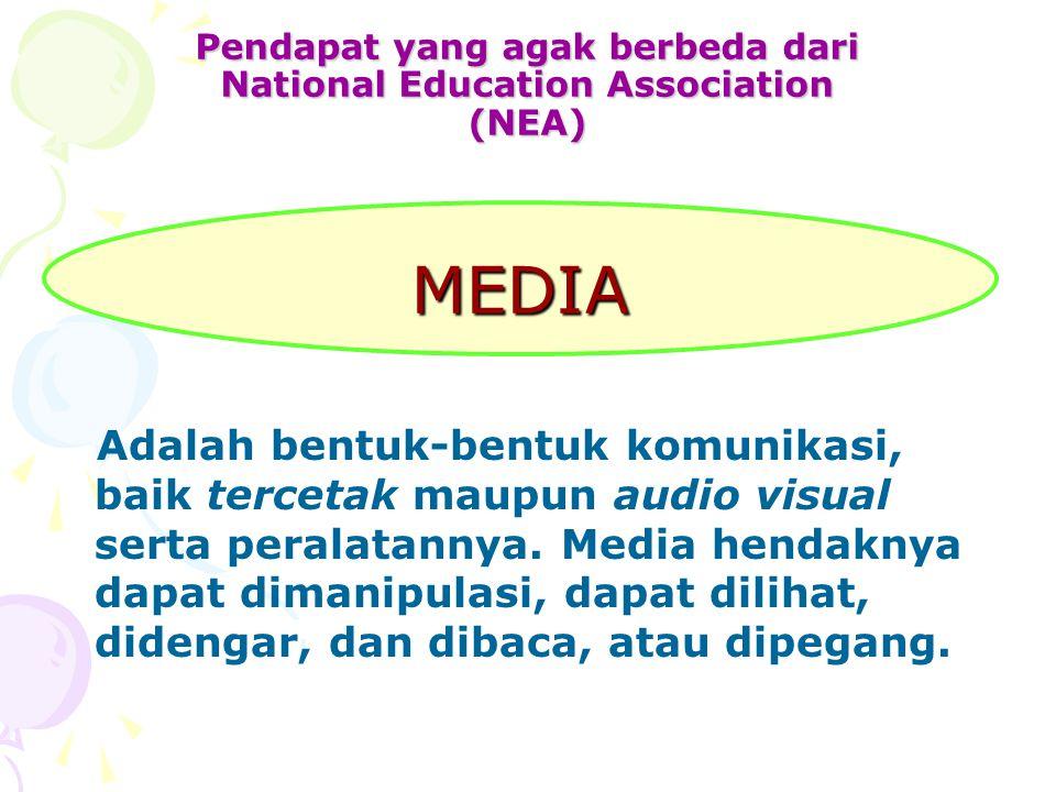 Pendapat yang agak berbeda dari National Education Association (NEA)