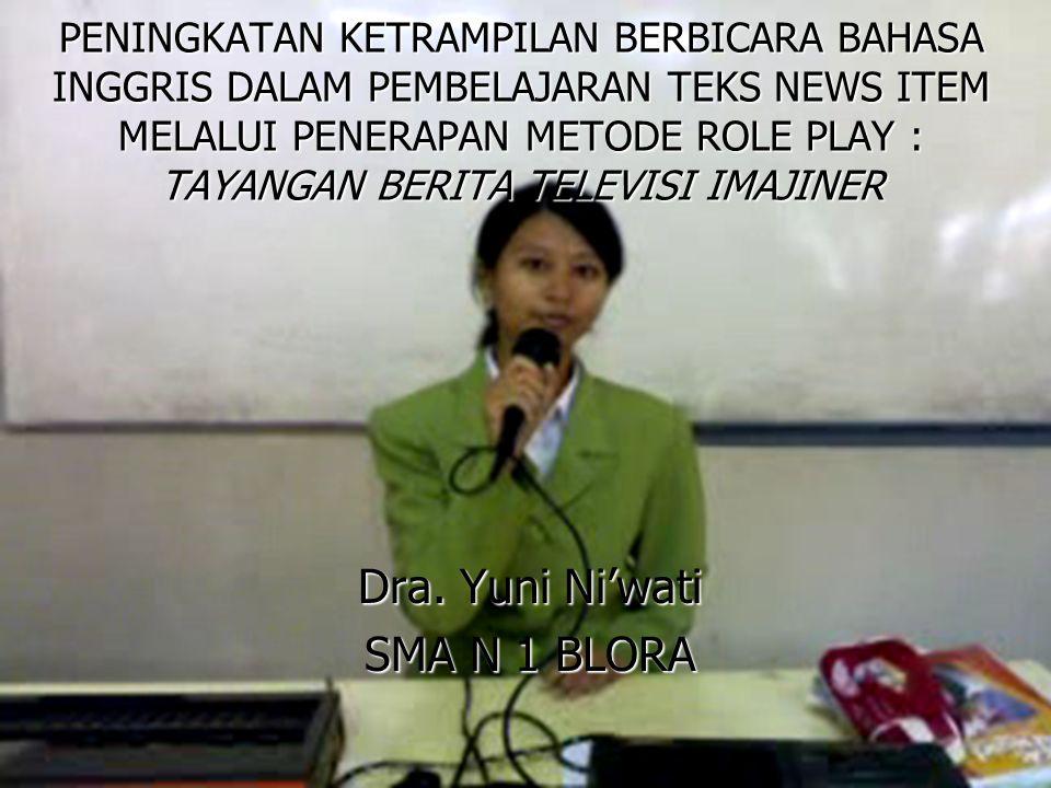 Dra. Yuni Ni'wati SMA N 1 BLORA