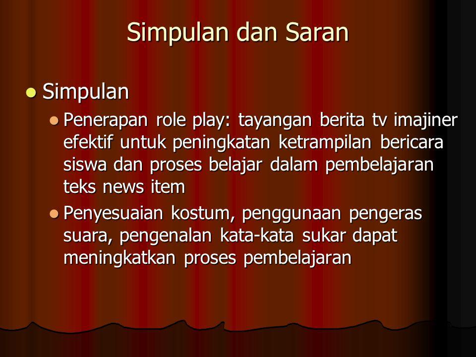 Simpulan dan Saran Simpulan