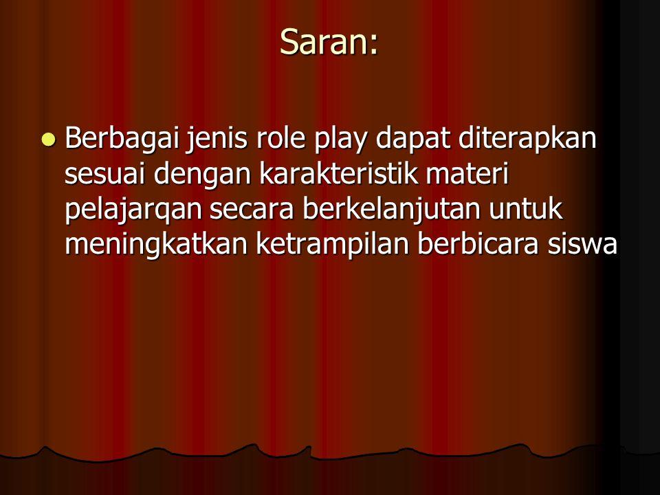 Saran:
