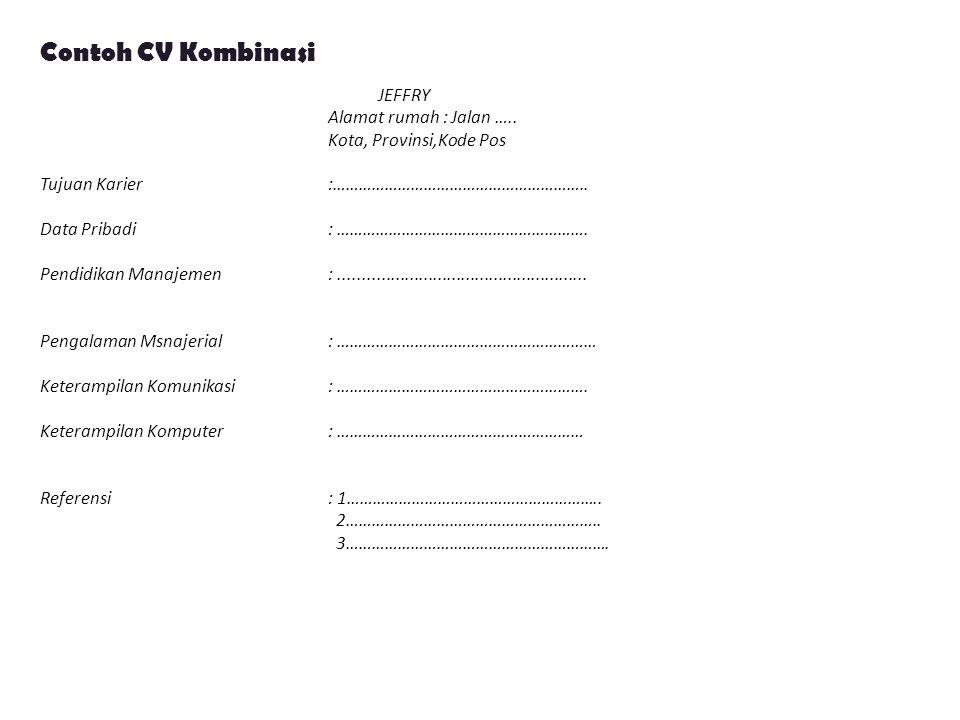 Contoh CV Kombinasi