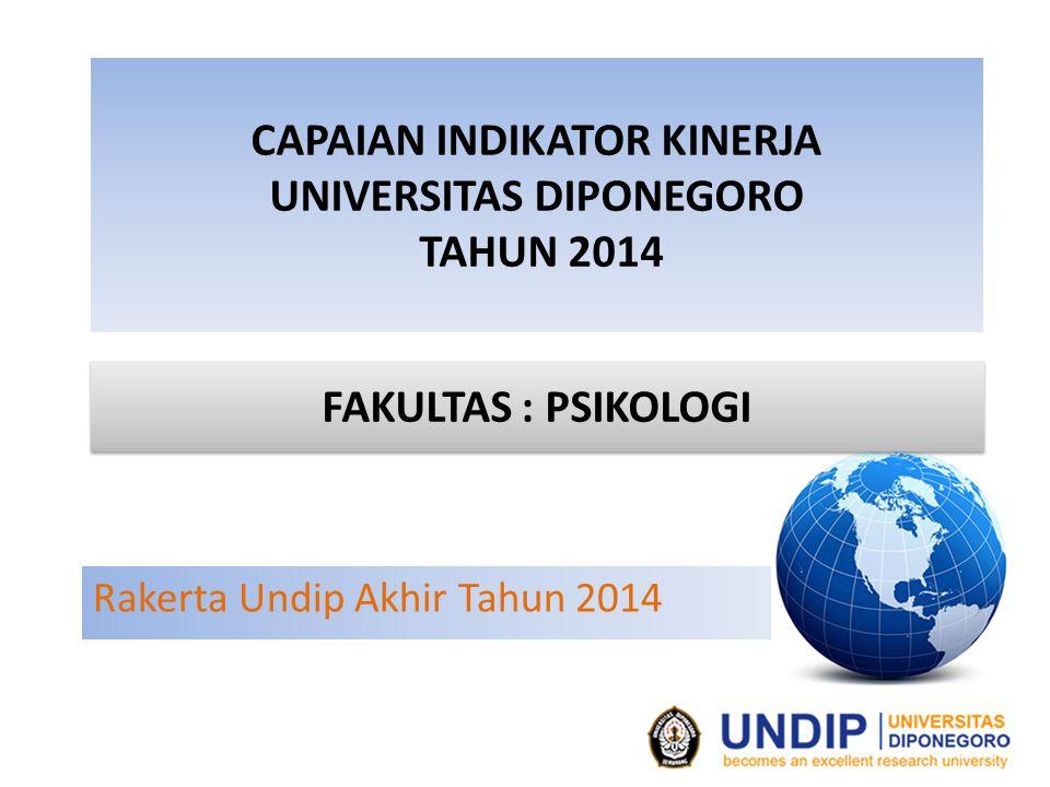 CAPAIAN INDIKATOR KINERJA UNIVERSITAS DIPONEGORO TAHUN 2014