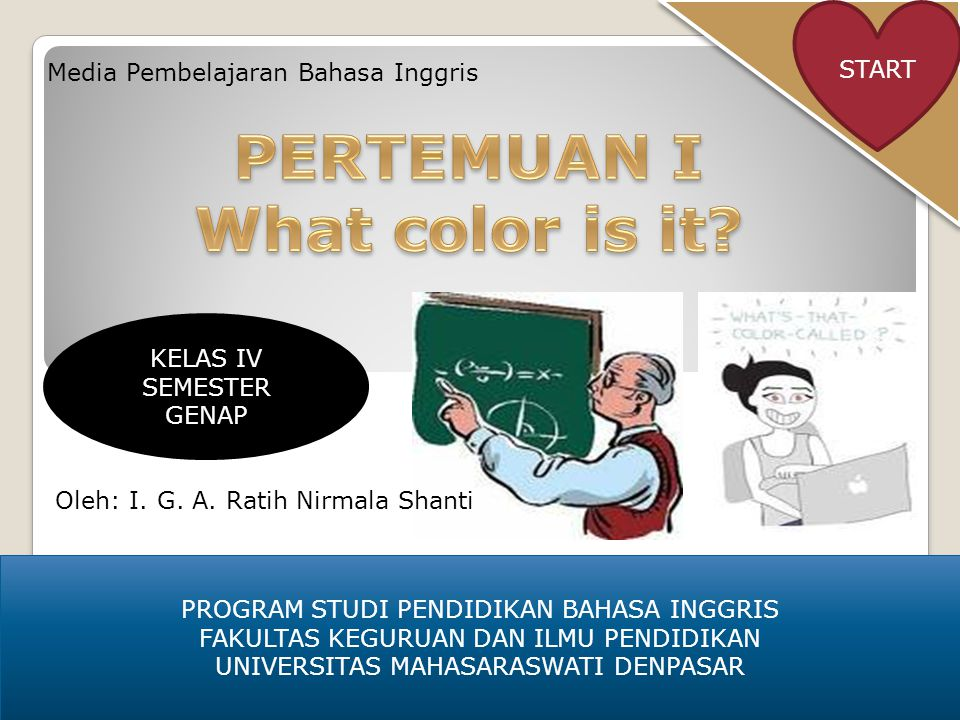 PERTEMUAN I What color is it