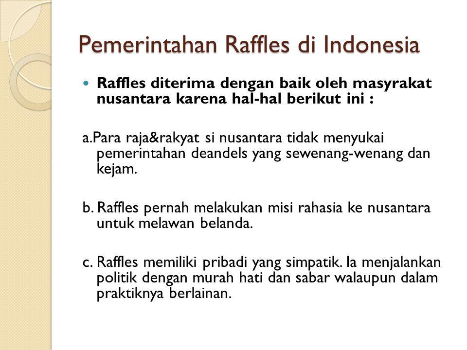 Pemerintahan Raffles di Indonesia