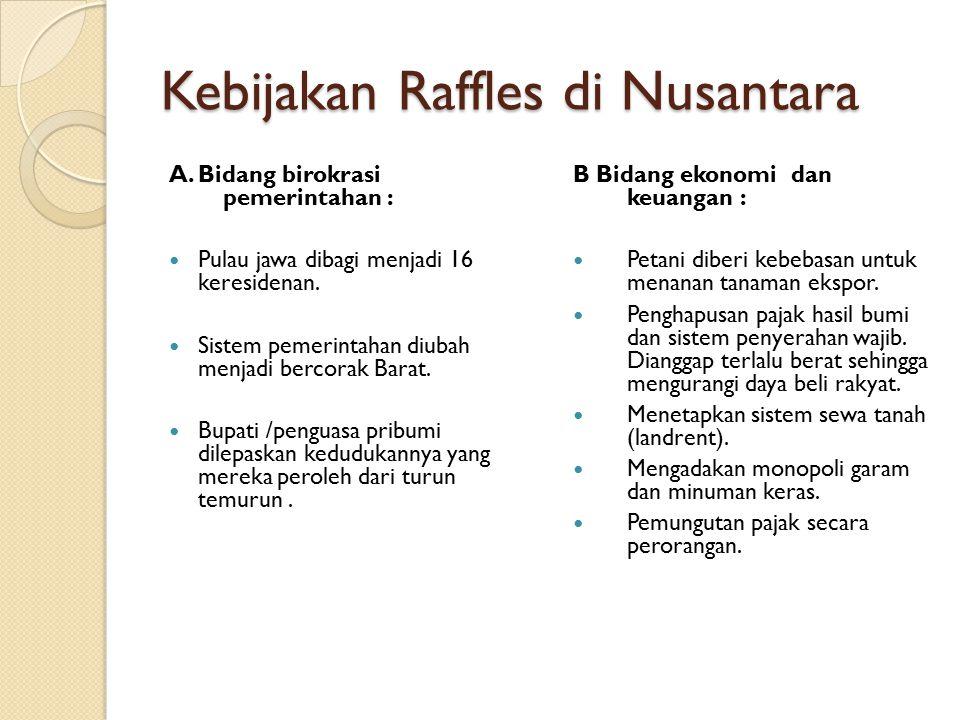 Kebijakan Raffles di Nusantara