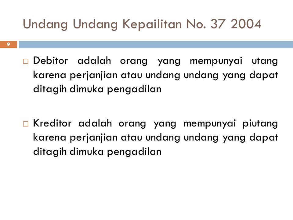 Undang Undang Kepailitan No. 37 2004