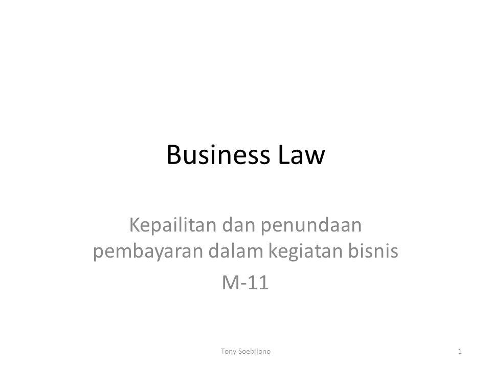 Kepailitan dan penundaan pembayaran dalam kegiatan bisnis M-11