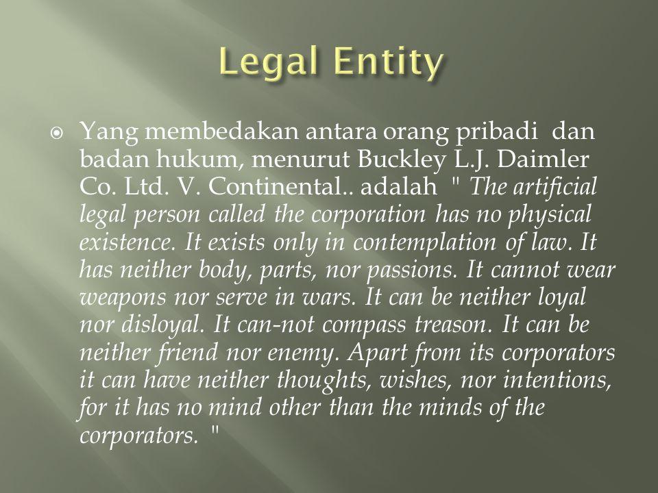 Legal Entity