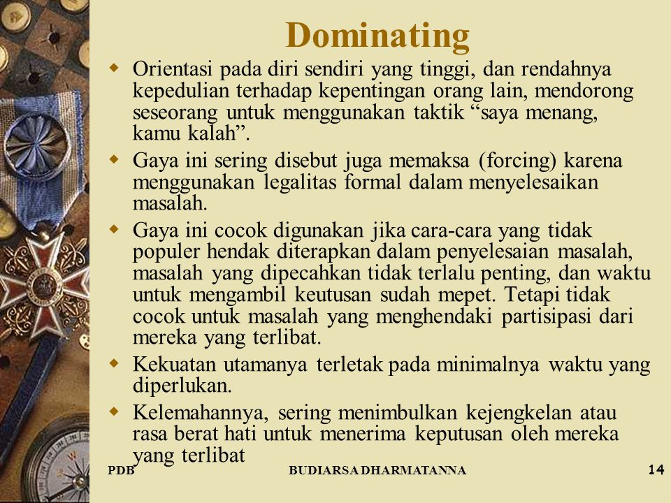 Dominating