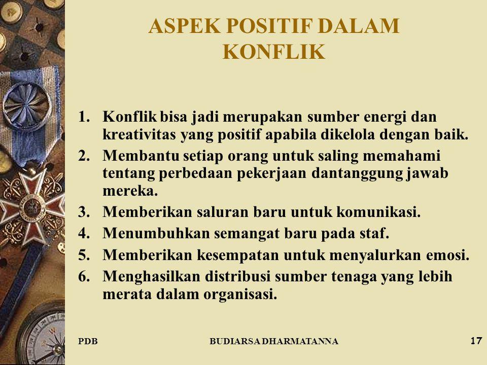 ASPEK POSITIF DALAM KONFLIK