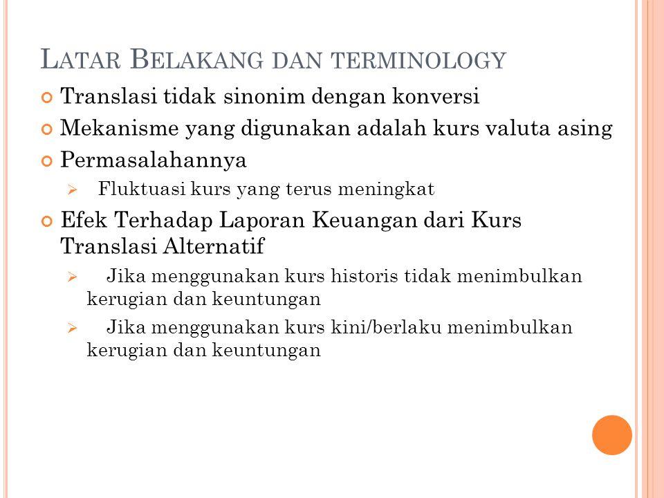 Latar Belakang dan terminology