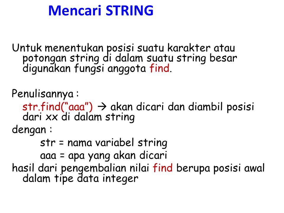 Mencari STRING