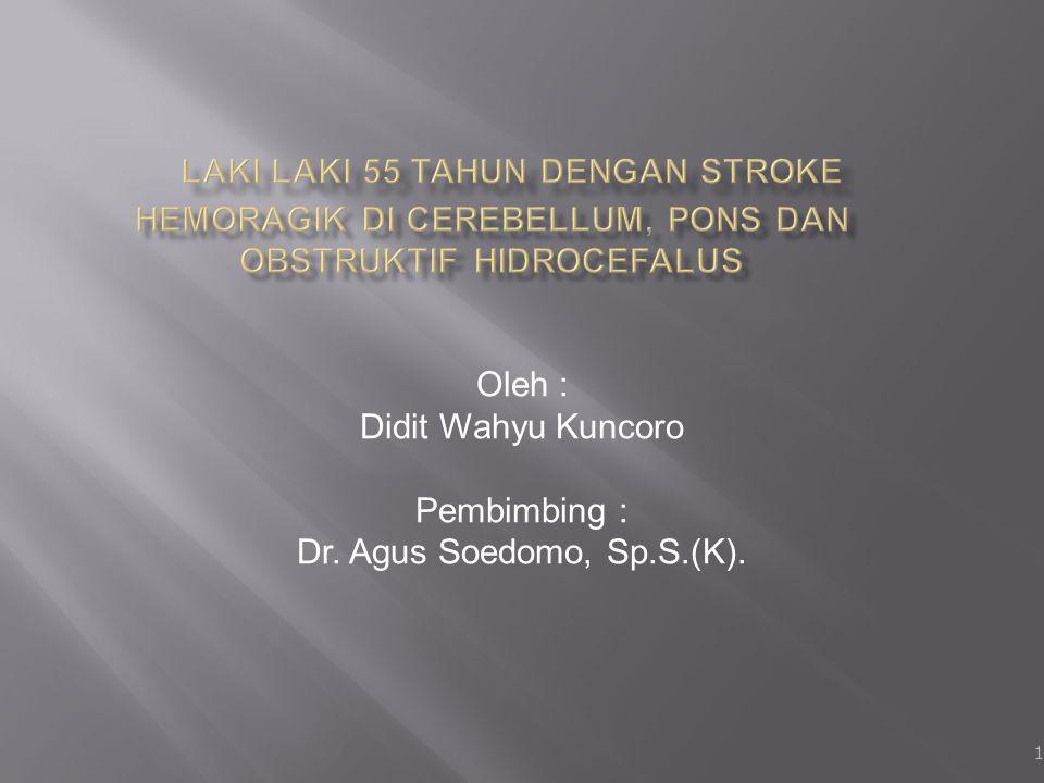 Oleh : Didit Wahyu Kuncoro Pembimbing : Dr. Agus Soedomo, Sp.S.(K).