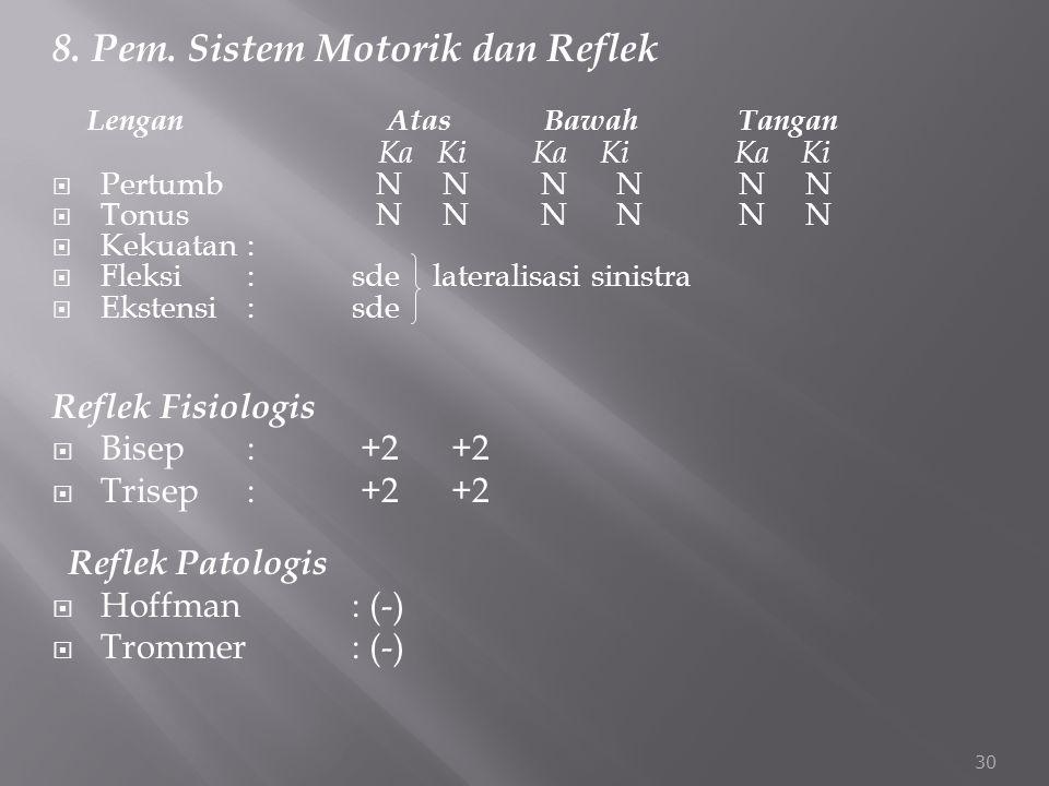8. Pem. Sistem Motorik dan Reflek
