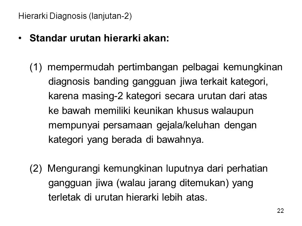 Hierarki Diagnosis (lanjutan-2)