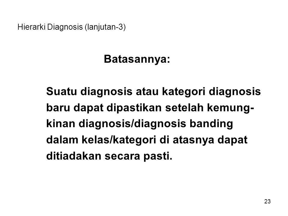 Hierarki Diagnosis (lanjutan-3)