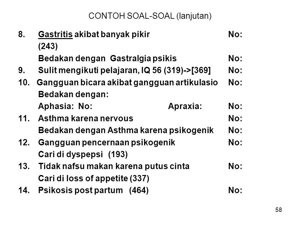 CONTOH SOAL-SOAL (lanjutan)