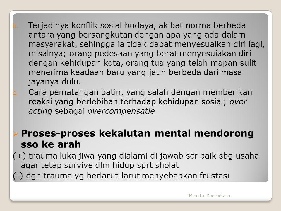 Proses-proses kekalutan mental mendorong sso ke arah