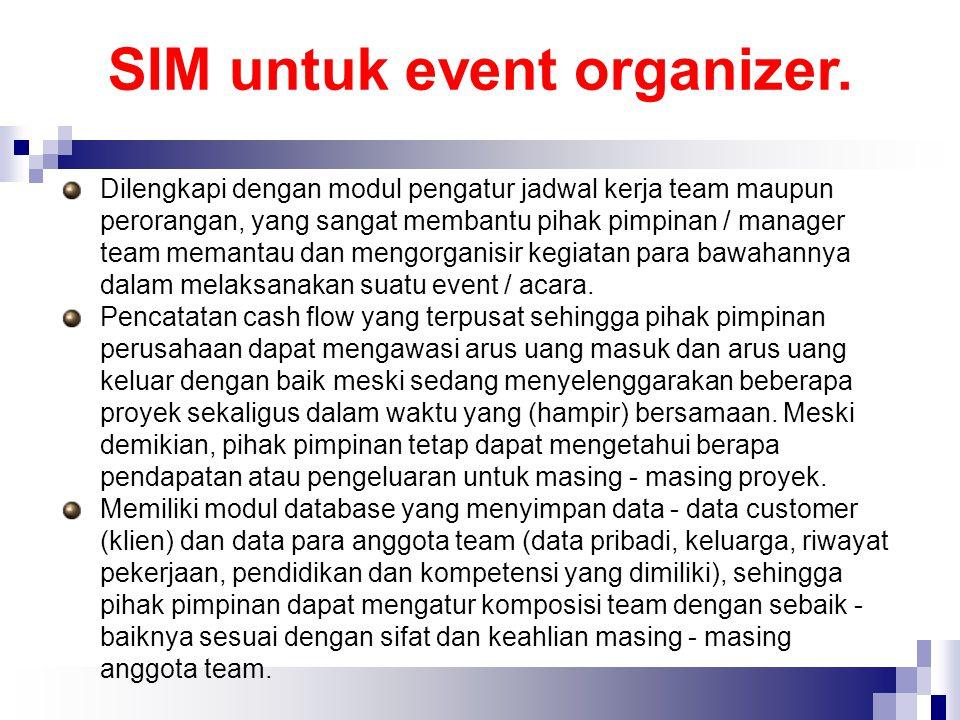 SIM untuk event organizer.