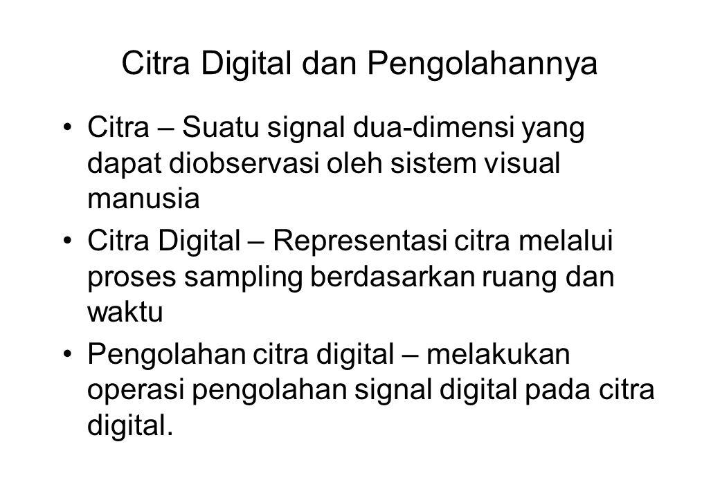 Citra Digital dan Pengolahannya