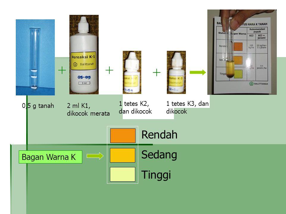 + + + Rendah Sedang Tinggi + + Bagan Warna K K-1 K-2 K-3