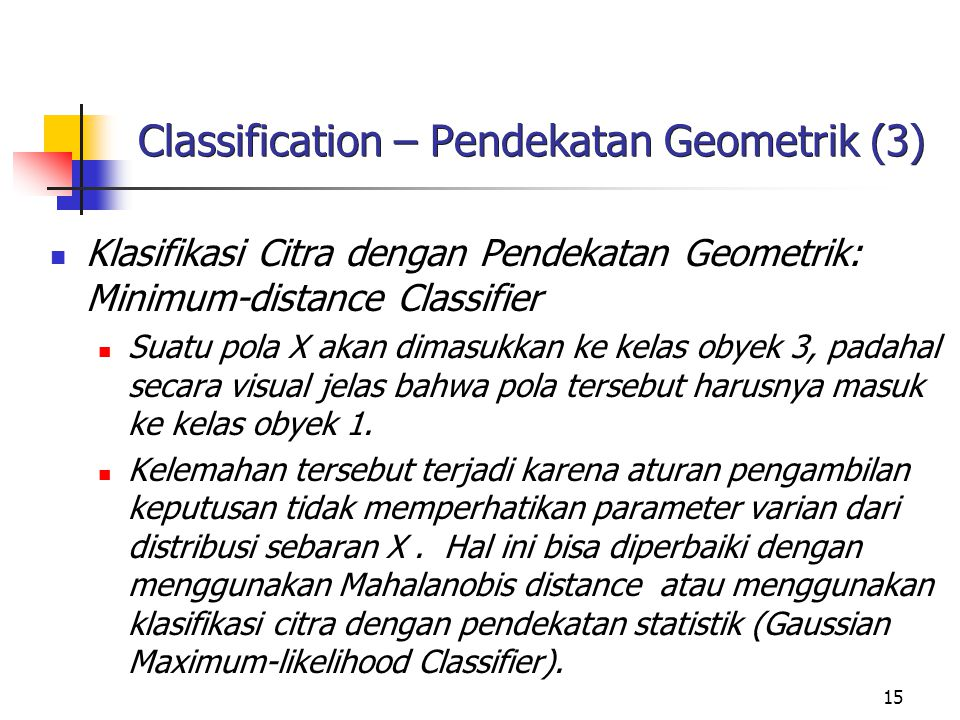 Classification – Pendekatan Geometrik (3)