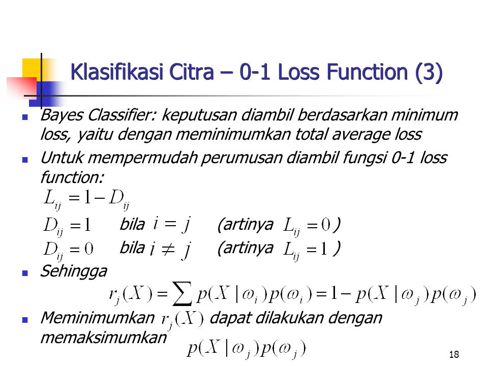 Klasifikasi Citra – 0-1 Loss Function (3)