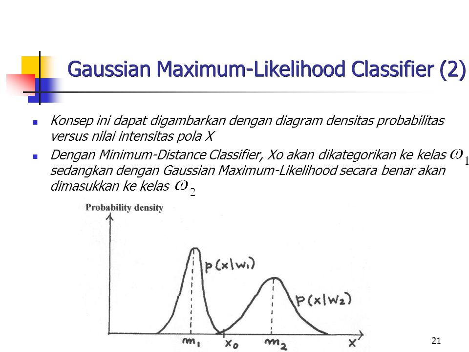 Gaussian Maximum-Likelihood Classifier (2)