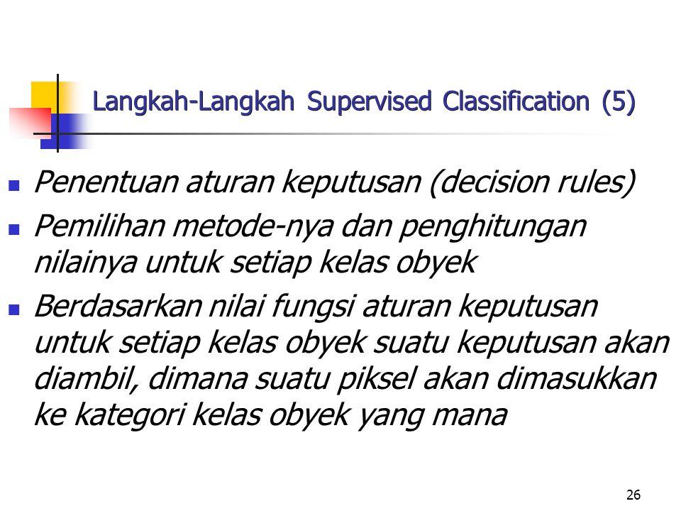 Langkah-Langkah Supervised Classification (5)