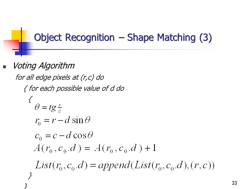Object Recognition – Shape Matching (3)