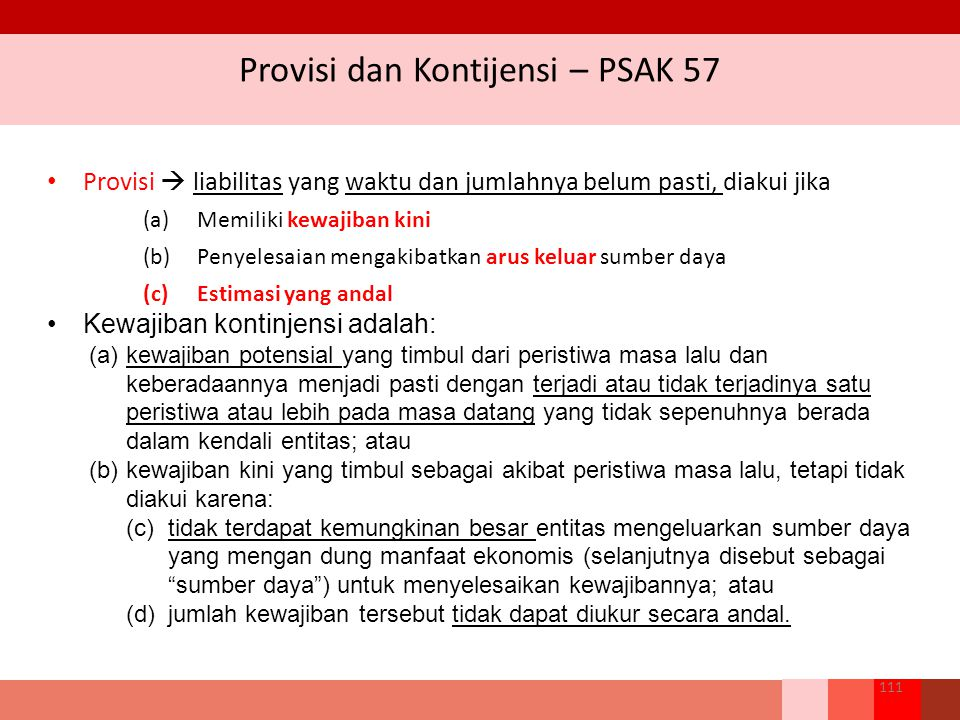 Provisi dan Kontijensi – PSAK 57